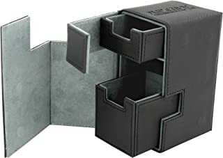 Ultimate Guard Flip n Tray Deck Case, 80 Plus, Standard Size, XenoSkin,  Black