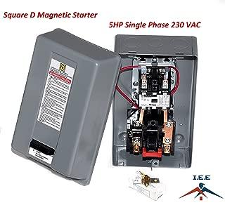 Motor Starter 5hp 1ph 230V definite purpose magnetic motor starter from Square D 8911dpsg32v09