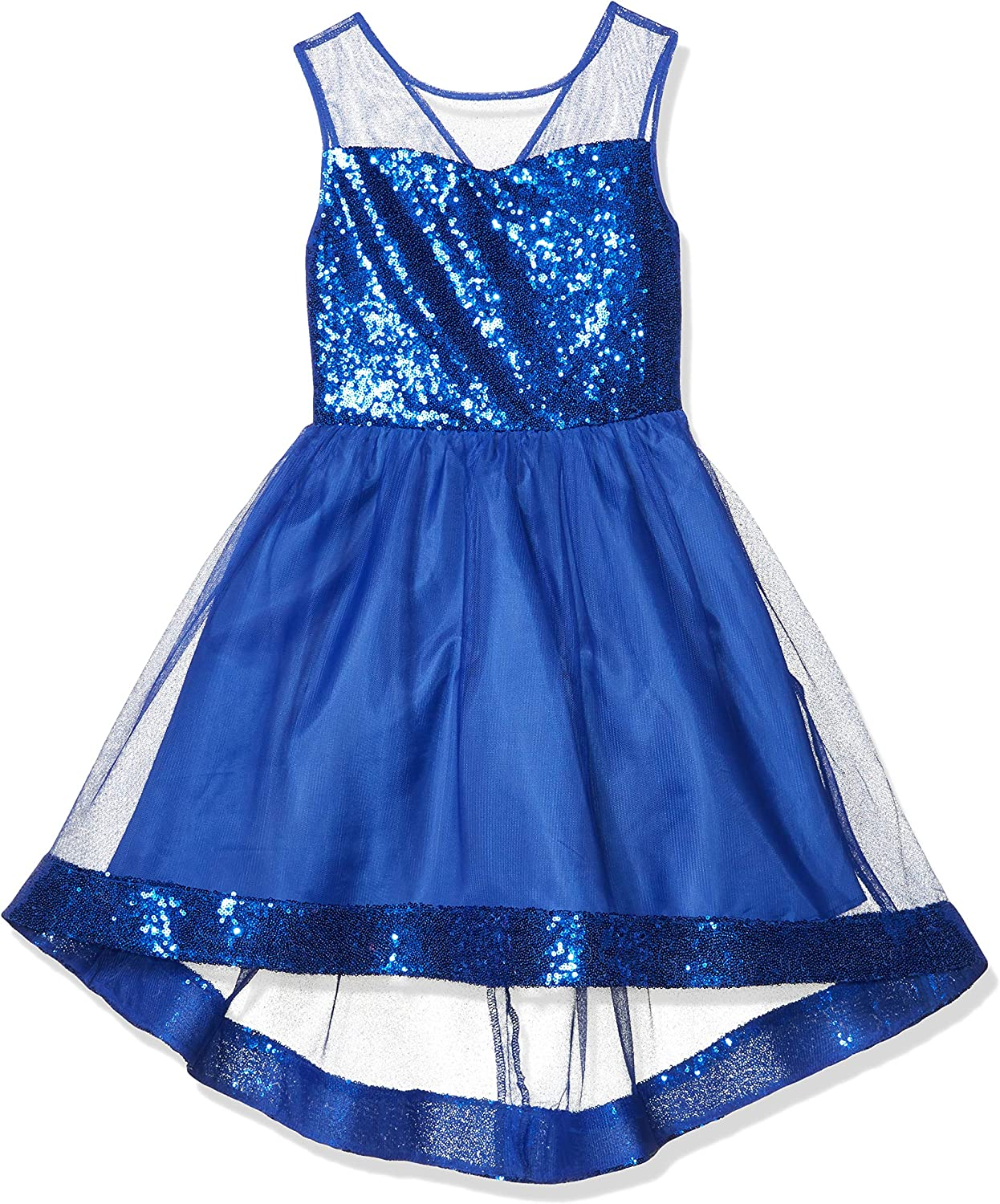 Amy Byer Girls' At the price Some reservation Dress with Bodice Sequin Illusion Hem and