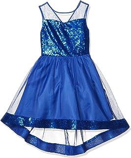 فستان Amy Byer للفتيات مع صدر وهمي وحاشية ترتر