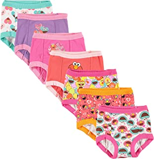 Sesame Street Girls' Toddler Friends 7-Pack Training Pants 2T, 3T,