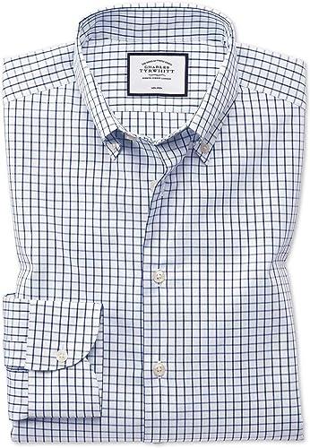 Business-Casual-Hemd Classic Fit Bügelfrei mit Button-down-Kragen in Marineblau Knopfmanschette