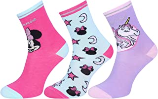 3 x Calcetines Mickie Minnie, unicornio DISNEY