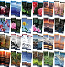 Bookmark Scripture Cards - Pack of 100 Variety Bible Memory Verse Cards | Popular, Encouraging Verses with Full Color Graphics | Useful Handouts for Faith Building, Sunday School, or Daily Life