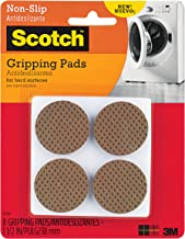 Scotch Gripping Pads, Round, Brown, 1.5-in Diameter, 8 Pads/Pack, 6-Packs (48 Total)