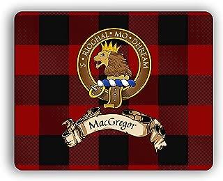 MacGregor Scottish Clan Rob Roy Tartan Crest Computer Mouse Pad