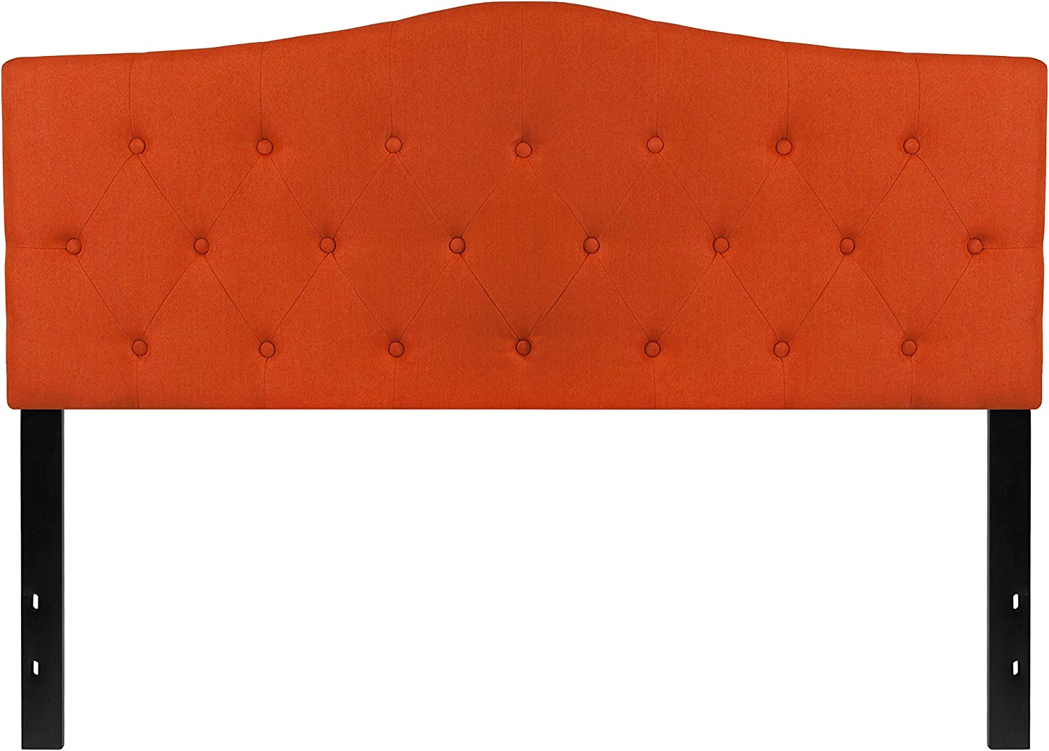 Flash Furniture Cambridge Tufted Upholstered Queen Size Headboard in orange Fabric