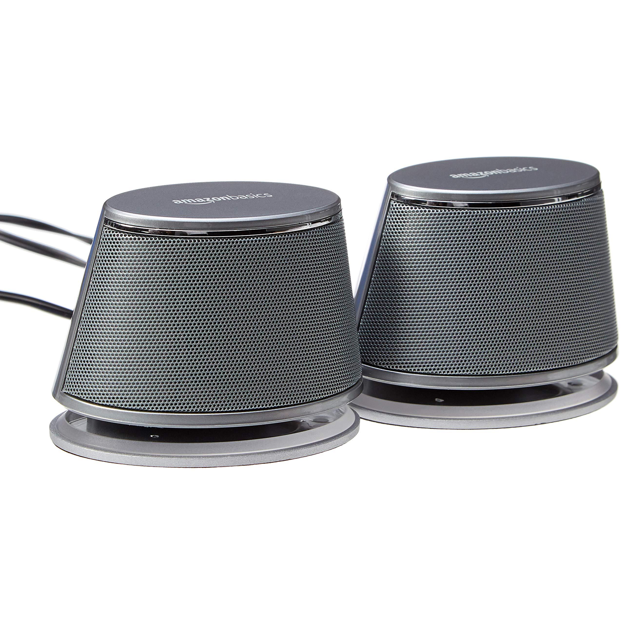 AmazonBasics USB Powered Computer Speakers Dynamic
