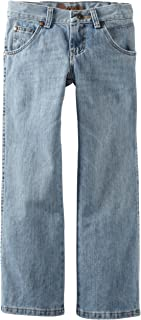 Wrangler Big Boys' Retro Relaxed Fit Boot Cut Jeans