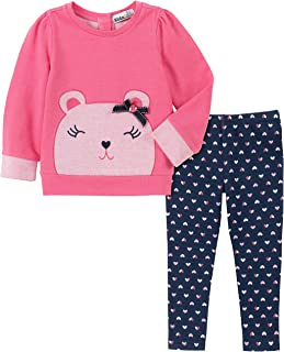 Kids Headquarters Girls 2 Pieces Leggings Set Pants Set