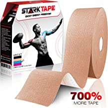 Kinesiology Tape Bulk - Designed to Help Boost Athletic Performance, Prevent Joint, Muscle Pain and Ease Inflammation. Easy to Apply, 97% Natural Cotton /3% Spandex