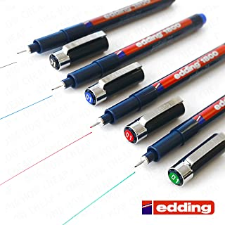 WCOCOW Fineliner Juego 9 Pigment liner Tinta Negra 0.05 mm 0.1 mm 0.2 mm 0.3 mm 0.4 mm 0.5 mm 0.6 mm 0.8 mm 1mm Brush Pen Artist Pen Fineliner-Black