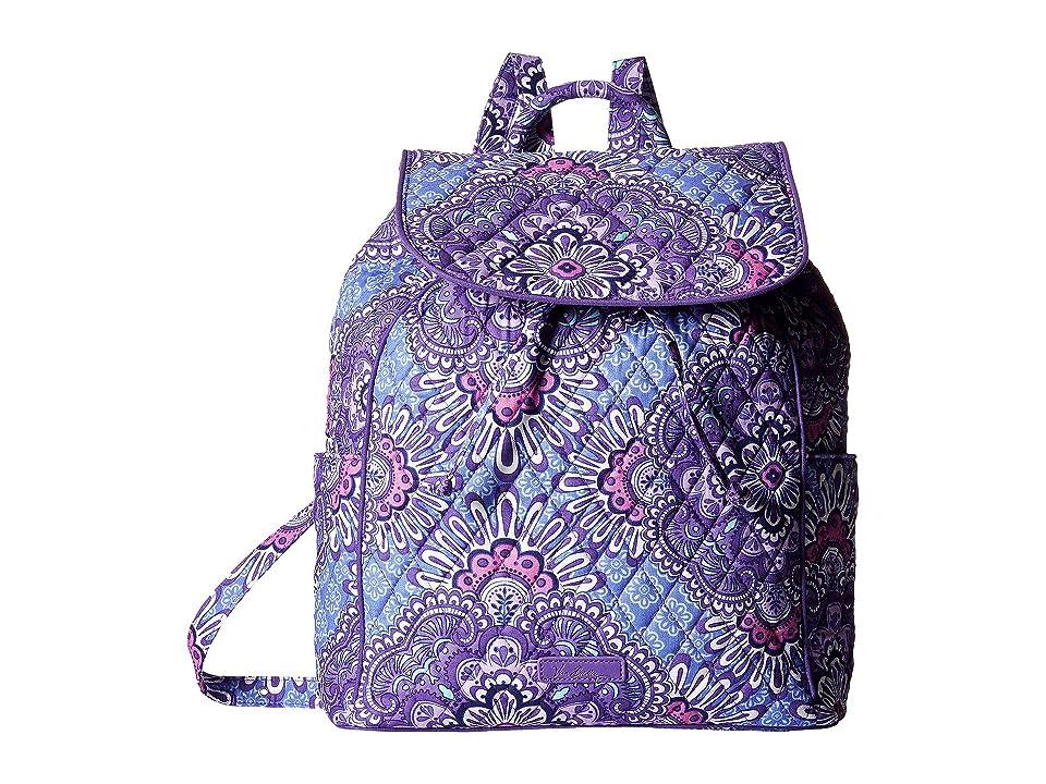 Vera Bradley Drawstring Backpack (Lilac Tapestry) Backpack Bags