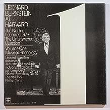 Bernstein At Harvard. Norton Lectures, 1973. Vol. 1. Musical Phonology. [Vinyl] Leonard Bernstein …