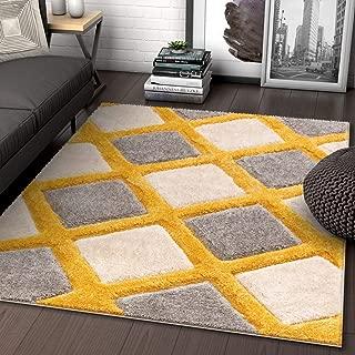 Best yellow plush rug Reviews