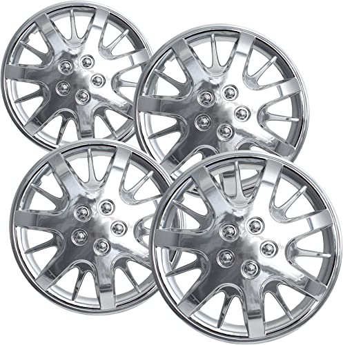 new arrival OxGord 16 inch Hubcaps Best for 00-05 Chevrolet Impala - (Set of 4) Wheel Covers 16in wholesale Hub outlet sale Caps Chrome Rim Cover - Car Accessories for 16 inch Wheels - Snap On Hubcap Auto Tire Replacement Exterior Cap online