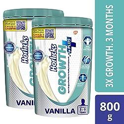 Horlicks Growth Plus - Health & Nutrition drink (Vanilla) 400gm*2 Value Pack