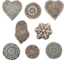 Hashcart Hand-Carved Printing Blocks/Stamps Used for Printing On Fabric/Scrapbook/Saree Border