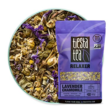 Tiesta Tea, Lavender Chamomile, Loose Leaf Soft Chamomile Herbal Tea, Non-Caffeinated, 8oz Bulk Bag - 200 Cups, Lavender Herbal Tea