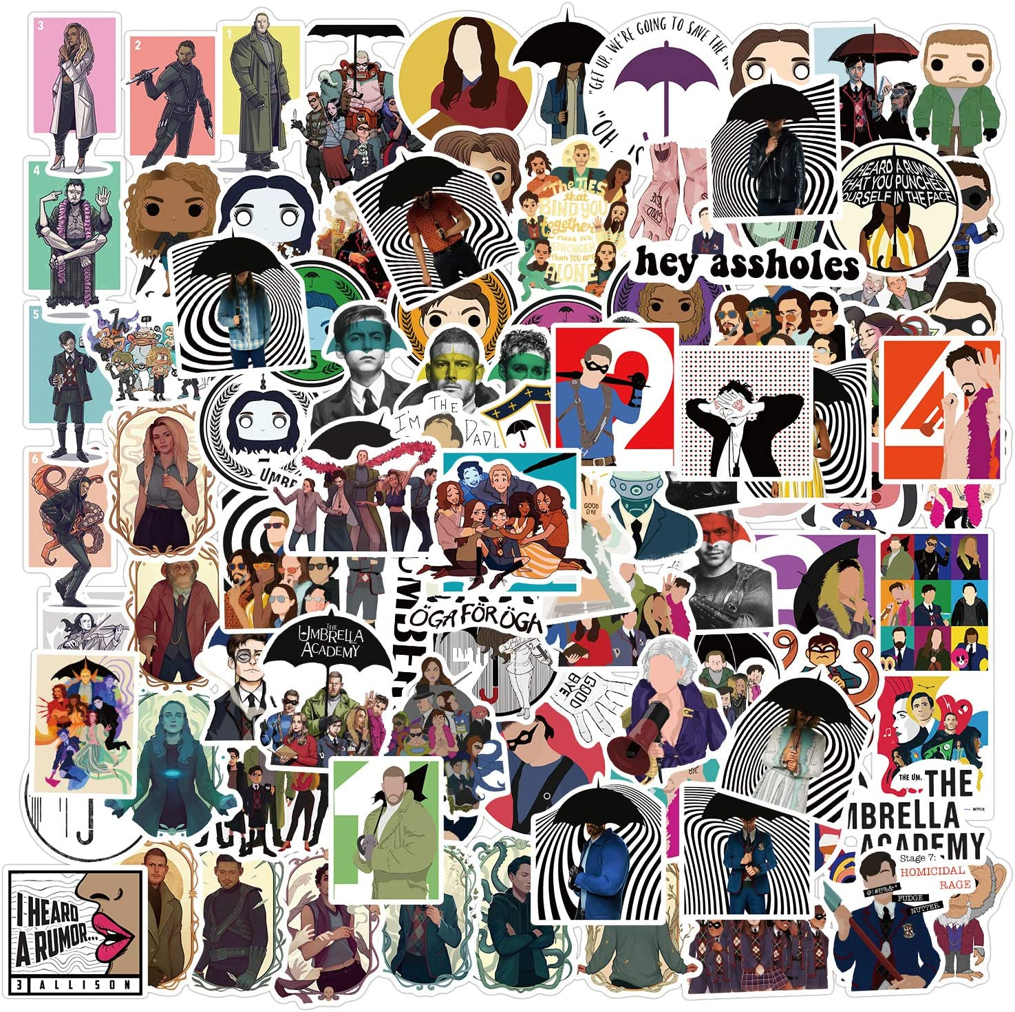 ZHUANG Genuine Free Shipping Umbrella Academ_y Surprise price Stickers 100pcs Show Waterproof TV Stic