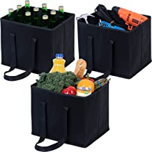 VENO Reusable Grocery Shopping Bags, Storage Boxes, Handy, Premium Quality, Heavy Duty Tote with Handles, Reinforced Botto...