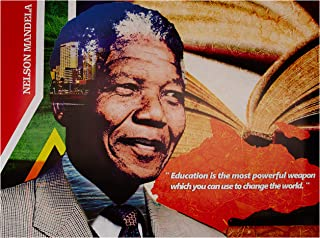 "777 Tri-Seven Entertainment Nelson Mandela Poster Education is Powerful Weapon Art Print, 24"" x 18"""