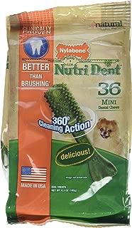 Nylabone Nutri Dent Mini Dental Chews- 36 Count, 6.3 Oz, ( 2 Pack)