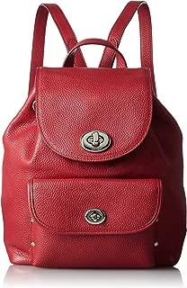 coach mini backpack red