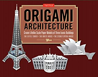 Origami Architecture Kit: Create Lifelike Scale Paper Models of Three Iconic Buildings: Kit with Origami Book & Pre-Cut Card Stock: Great for Kids and Adults!