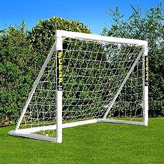 FORZA Fotbollsmål med låsningssystem [1.8m x 1.2m] | Vädersäkert PVC Trädgårdsmål för barn + Nät | Enkel montering | Fotbo...