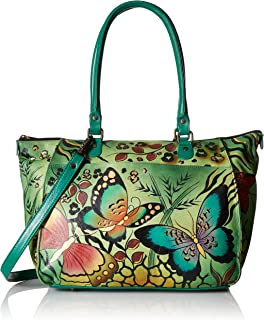 Anna by Anuschka Tote Bag | Genuine Leather | Large, Animal Butterfly
