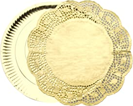 Ibili Placemat set, 32/34 cm, papier, goud, 35 x 10 x 10 cm, 6 stuks