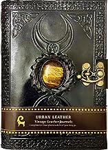 Urban Leather Journal 3 Lune Tigre Celtique Pierre cloutée Noir Livre d'ombres Carnet de croquis Carnet de croquis Carnet ...