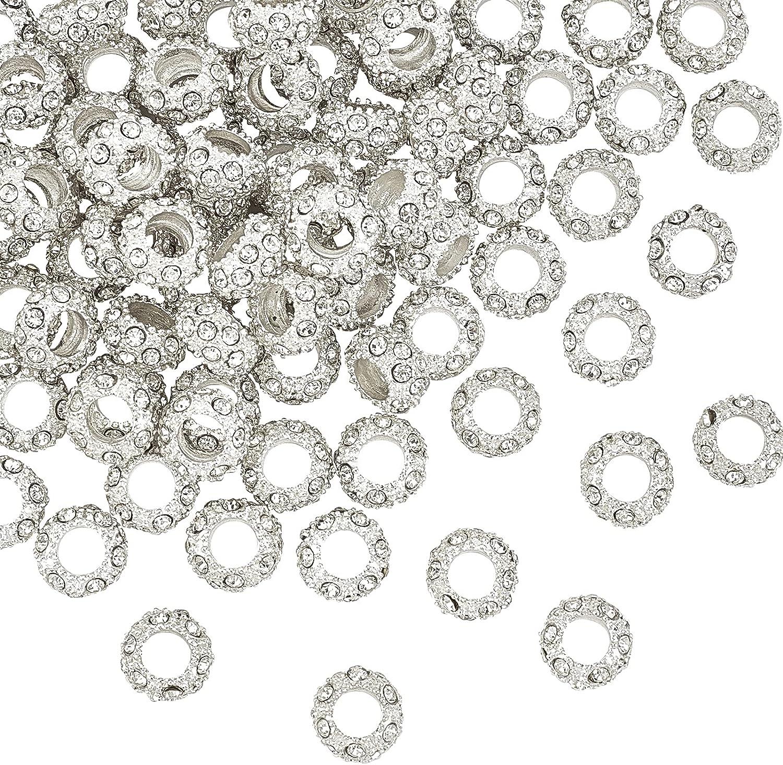 PH PandaHall 100pcs Crystal Rhinestone Larg Alloy High order European Ranking TOP16 Beads