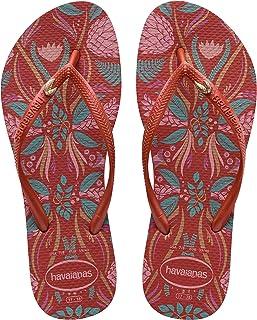 Havaianas Women's Slim Flip-Flop Sandals, Royal Floral