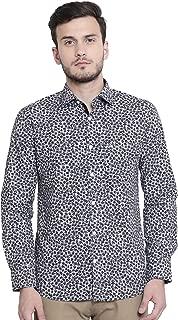Crimsoune Club White Printed Men's Shirt