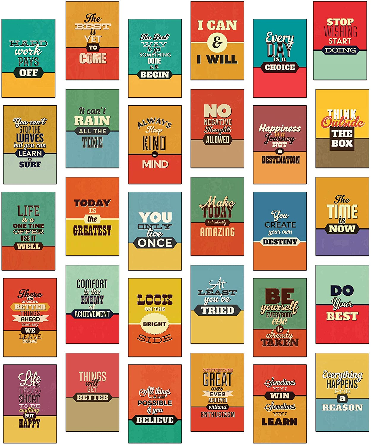 30 Retro Vintage Over item handling ☆ Sayings Ranking integrated 1st place and Postcards Motivational Slogans