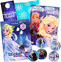 Disney Frozen Coloring Book Set with Frozen Stickers - Bundle Includes Frozen Coloring Book, Sticker Scene Book, Stickers, in Gift Bag