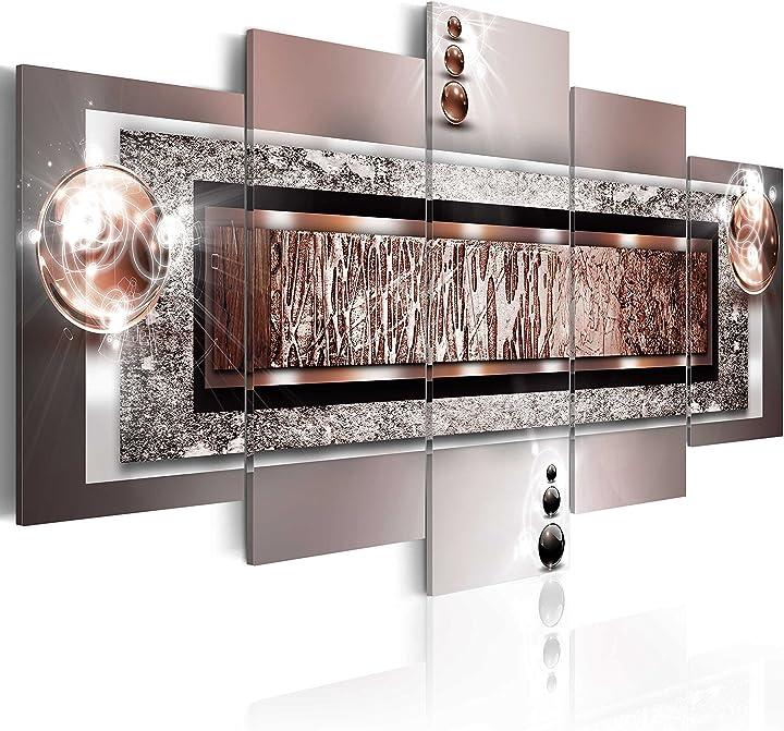 Quadro su vetro acrilico200x100 cm - 5 parti quadro moderno b&d xxl murando a-C-0032-k-n