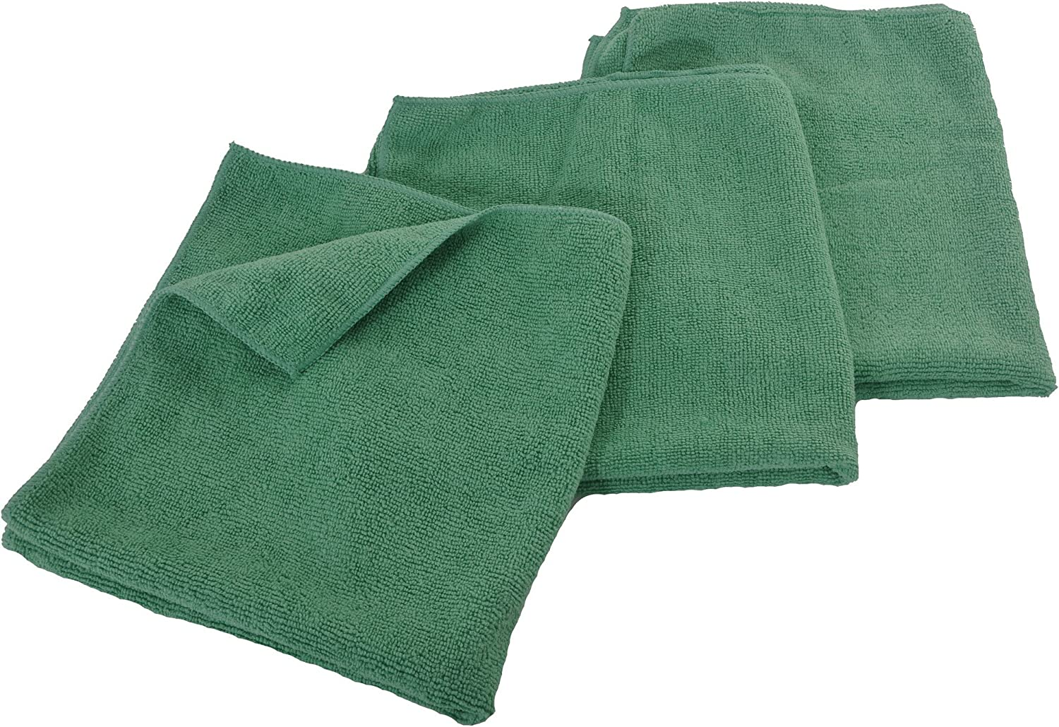 Eurow Microfiber 16 x 16in 300 Cleaning Save money High quality Towels Green GSM 3-Pack