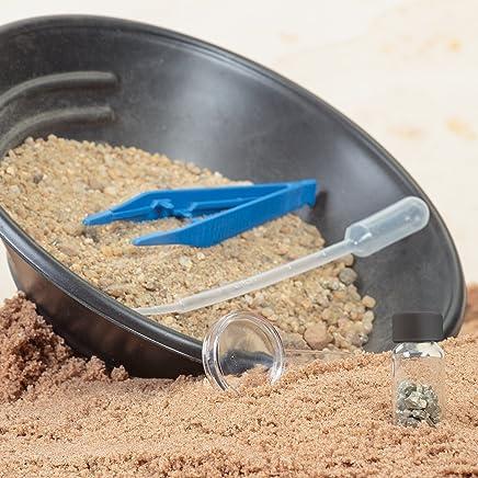 Tobar Gold Panning Kit completo Set giocattolo educativo Scienze della terra bambini 8 +