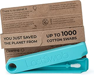 LastSwab Reusable Cotton Buds for Ears - Environmentally Friendly Q tips - Designed in Denmark - Easy to Clean - Zero Wast...