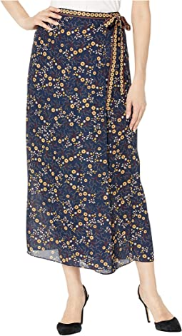 Navy/Gold/Ecru Dutch Floral Swirl