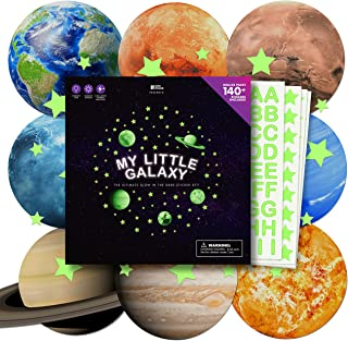 100+ pcs Glow in The Dark Stars and Planets Stickers for Ceiling   Large Decals for Kids Bedroom Walls   Letter Set   Personal Planetarium   Boy & Girl Solar System Toys   Moon in My Room Decoration
