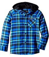 Hurley Kids - Hooded Long Sleeve Flannel (Little Kids)