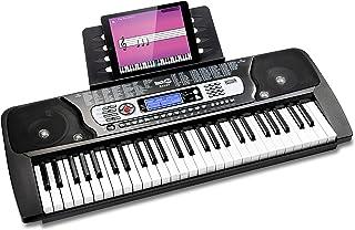 RockJam 54鍵 電子キーボード RJ654-MC 【電源アダプター、譜面台、練習用オンラインアプリ付属】
