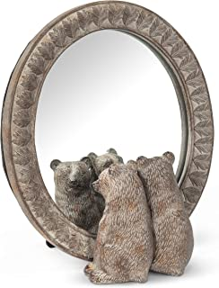 Abbott Collection 27-EDWARD-280 Two Bears in Mirror, Brown
