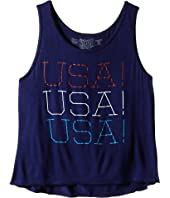 The Original Retro Brand Kids - Swingy Rayon USA Tank Top (Little Kids/Big Kids)