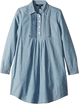 Pleated Chambray Dress (Big Kids)