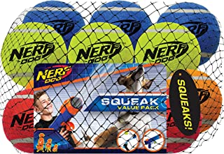 Nerf Dog 12-Piece Dog Toy Gift Set, Includes 2.5in Squeak Tennis Ball 12-Pack, Nerf Tough Material, Multicolored